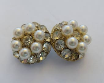 Rhinestone and Faux Pearl Buttons
