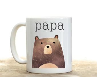 Papa Bear Mug, Father's Day Gift for Grandpa, Father's Day Gift for Papa, Father's Day Gift from Child, First Father's Day Gift Idea, Papa