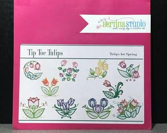 Bertina Studio Tip Toe Tulips Embroidery Design CD