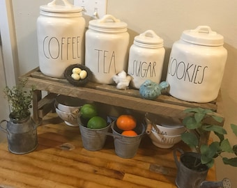 Farmhouse style stand/Rae Dunn Canister Stand/Sink Stand