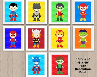 Superhero Wall Art, Superhero Wall Print, Superhero Nursery Decor, Superhero room decor, Superhero Digital Print