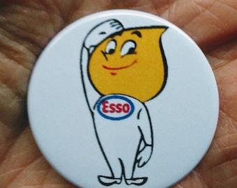 Esso Mr Happy 38mm retro style pin badge