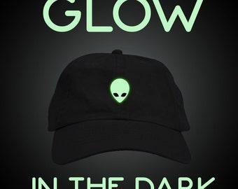 Glow in the Dark Alien Dad Hat Baseball Cap Low Profile