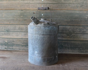 3 gallon galvanized metal gas can