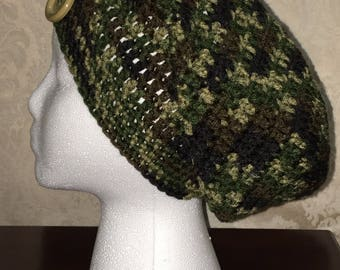 Camo slouch hat
