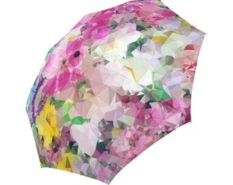 Pink Umbrella Floral Umbrella Abstract Umbrella Flowers Designed Umbrella Geometric Pattern Umbrella Rainbow Umbrella Automatic Umbrella