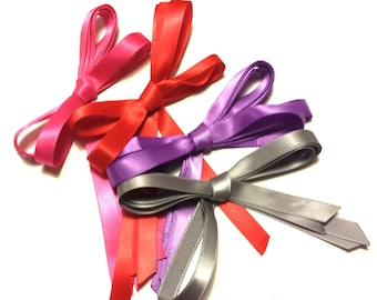 5 Pack Bulk Lot! Thin Ribbon Shoelaces - CHOOSE YOUR COLORS -  3/8 Inch Wide - Available In Kid's, Tennis, Boot, & Thigh High Length