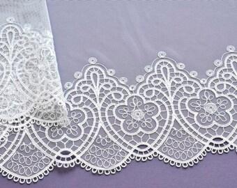 White Lace Trim, Medeival Lace, Wedding Lace Trim, Renaissance, Costume, Bridal Trim