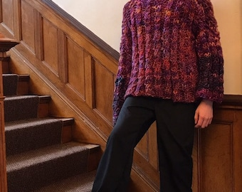 Hand Knit Cable Chunky Sweater