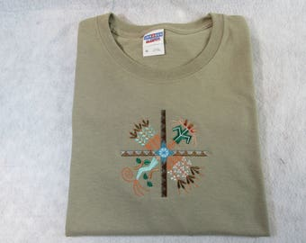 Native American Southwest Embroidered T Shirt, Sweatshirt or Hoodie