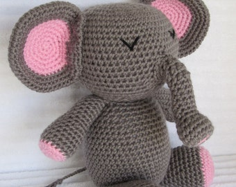 Stuffed Elephant, Elephant Stuffed Animal, Kids Toy, Crochet Elephant, Crochet Animal, Elephant Plush, Baby Toy, Amigurumi elephant