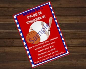 Baseball Printable Invitations