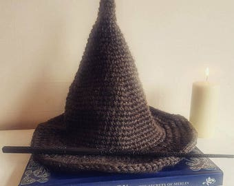 Adult Wizard Hat Crochet Pattern (UK)