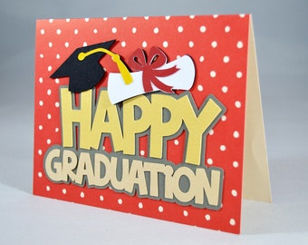Happy Graduation Polka Dot Card