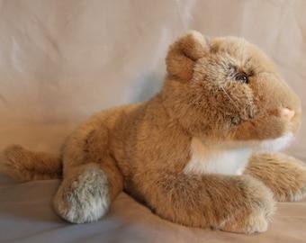 Chosun International Lioness Mountain Lion Plush Stuffed Animal 1987 Korea