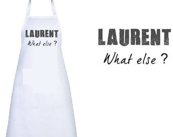 """ADULT apron personalized """"what else?"""" WITH THE NAME OF YOUR"""