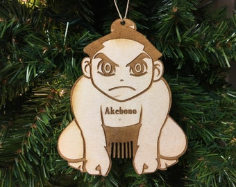 Sumo Wrestling 2 Personalized Christmas Ornament
