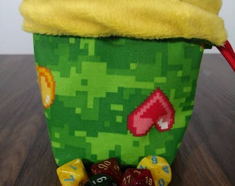 Reversible PIXEL Dice Bag with Red Paracord