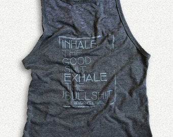 MD Inhale Exhale Yoga Tank, Motivation, Fitness Tank, Yoga Clothes, Graphic Tee, Yoga Vest, Gym Tank, Gym Top, Gym Shirt, Gym Vest, Workout