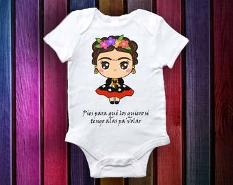 Frida Kahlo  Baby Clothes: 100% Cotton Onesie  (0-3. 3-6,6-12) FREE SHIPPING!!!