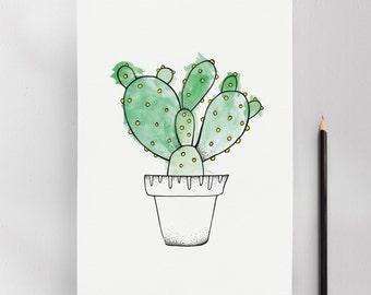 Consolea Cactus Illustration Art Print