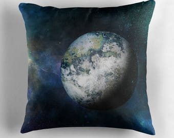 Outer Space Pillows, Galaxy Pillow Case, Outer Space Decor, Planets, Universe, Nebula, Dark Cushions