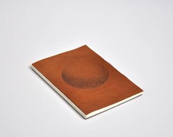 "Notebook leather tattooed, pattern ""Sphère"""