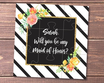 Maid of Honor proposal card Will you be my Maid of Honor gift sister Maid of Honour jigsaw Maid of Honor puzzle Bridesmaid proposal puzzle