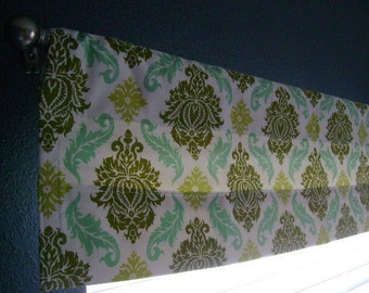 Damask Valance 40in x 11in - ready to ship