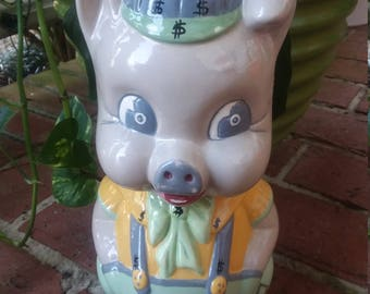 SALE! Was 35. Big Piggy bank, porky the pig, handmade 70s