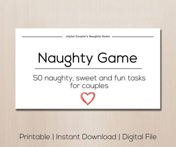 Naughty game, gift for boyfriend, anniversary gift, naughty couples game,  sex game, game for couples, naughty gift, spice up relationship