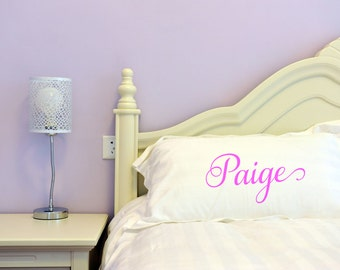 Custom Pillowcase, personalized pillowcase, Custom Pillow, peronalized pillow, bridesmaid gift, dorm room, wedding gift, back to school gift
