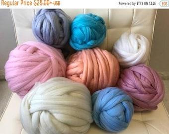 Chunky Knit Yarn, Chunky knit vegan yarn, Vegan wool, Super Bulky Yarn,Arm Knitting Yarn