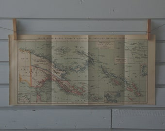 1894 Vintage Papua New Guinea Map