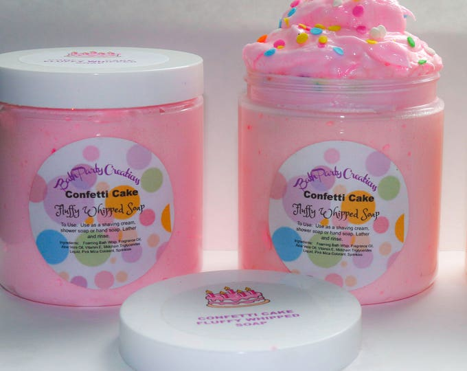 Fluffy Whipped Soap XL in Confetti Cake and Assorted