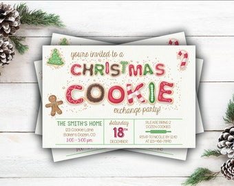 Christmas Cookie Exchange/Party Invitation