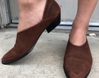 Vintage Brown leather booties