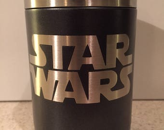Star Wars Powder Coated Stainless Steel Can Cooler Can Holder Tumbler