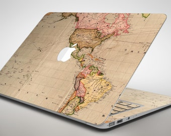 World map decal etsy the western world overview map apple macbook air or pro skin decal kit all gumiabroncs Images