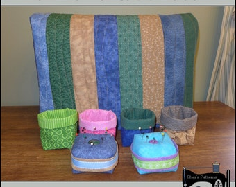 PDF Pattern for Sewing Machine Dust Cover, Pincushion Pattern, Thread Catcher Pattern - Sewing Pattern, Tutorial, DIY