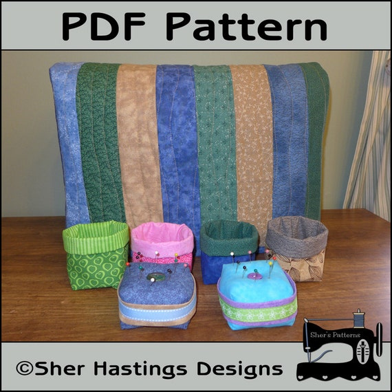 PDF Pattern for Sewing Machine Dust Cover Pincushion Pattern