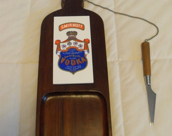 Vintage Smirnoff Vodka Cheese Server Advertizing Item