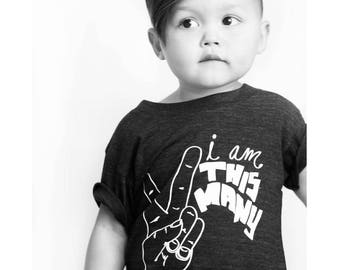 I Am This Many Kids Birthday Shirt - One, Two, Three, Four or Five - Funny Birthday Graphic Tee - Boys or Girls - I'm This Many