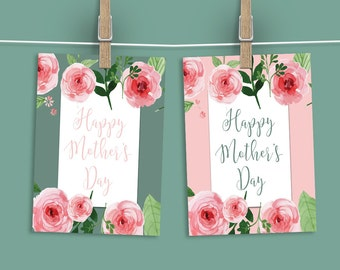 """Mother's Day Signs. Floral Theme. Mother's Day Brunch Sign. 8x10"""" in two colors. Set 2. *INSTANT DOWNLOAD*"""