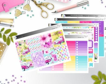 weekly kit - summer fun (Erin Condren and Happy Planner Stickers)