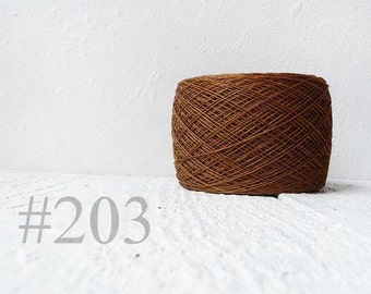 Brown Linen yarn 100% natural linen # 203