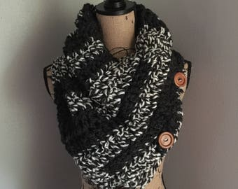 Button Cowl // Triangle Cowl // Scarf