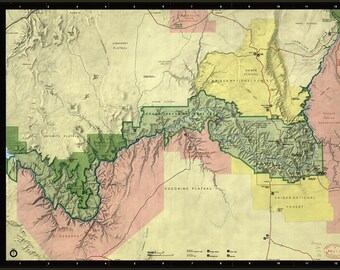 Poster, Many Sizes Available; Map Of Grand Canyon National Park Arizona 1991 P2
