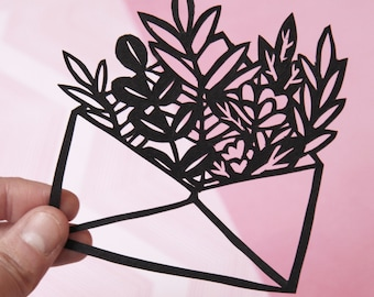 Mini Love Letter Flowers Paper Cut