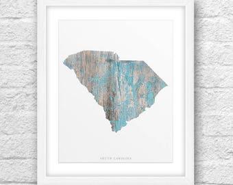 South Carolina Map, South Carolina Print, South Carolina Art, South Carolina State,Minimalist Art, South Carolina Printable,Instant Download
